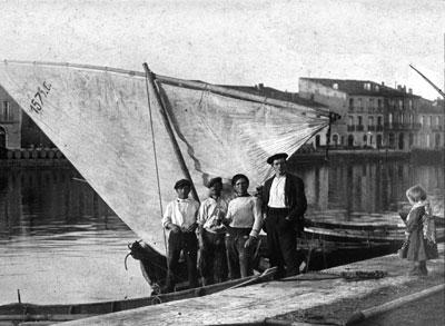 Le port de Mèze en 1900
