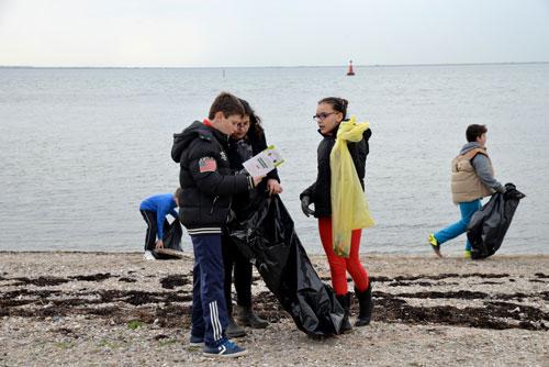 Les jeunes mézois nettoient le littoral