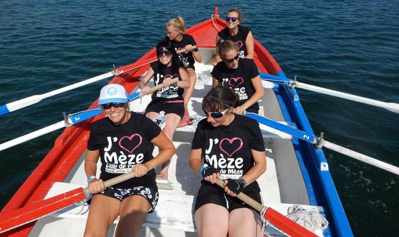 L'équipe des filles de la mairie & co... Elle rament fort et elles aiment Mèze !